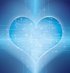 technology in heart vector image