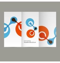 Molecule atom design template background vector