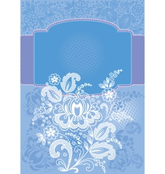 Decorative floral blue background vector image