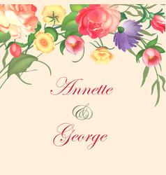 A vintage frame on floral vector