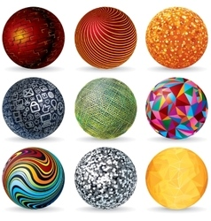 Abstract 3D Spheres Design Concept vector image