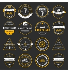 Badges and logos Cycling vector image
