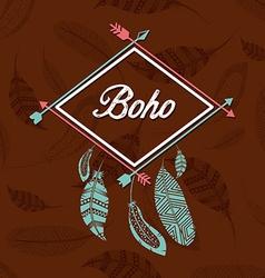 boho style vector image vector image