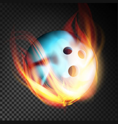Bowling ball realistic bowling ball in vector