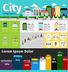 city infographics elements urban life and vector image
