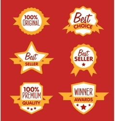 Collection of modern label vector image