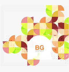 colorful circle elements vector image vector image