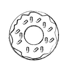 delicious donut dessert vector image vector image