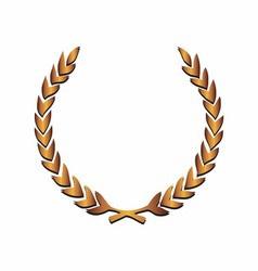 Golden laurels vector image