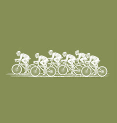 group of bicycle riding sport men biking together vector image vector image