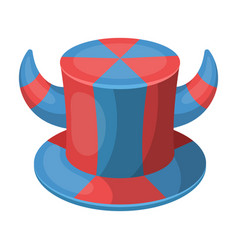 Hat of a fan with hornsfans single icon in vector