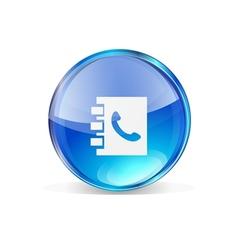 Icon contact vector