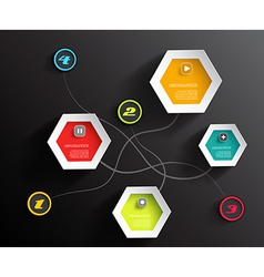 Info graphic circles and hexagons with place for vector