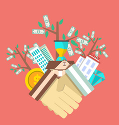 Investing in future concept with money tree vector
