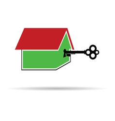 key unlocks the house color vector image vector image