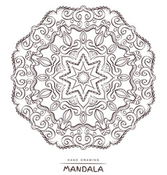 Mandala for coloring Patterned Design Element vector image