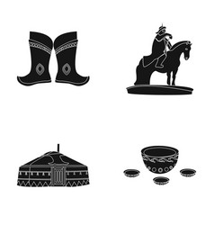 Military boots a monument to the rider a vector