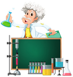 old scientist in the lab vector image vector image