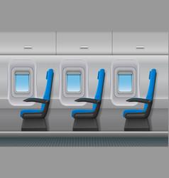 Passenger airplane interior aircraft vector