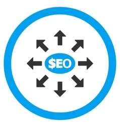 Seo marketing rounded icon vector