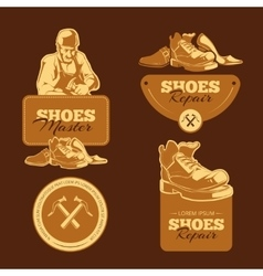 shoes repair vector image vector image