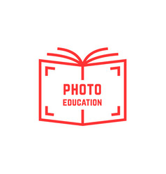 simple photo education logo vector image vector image