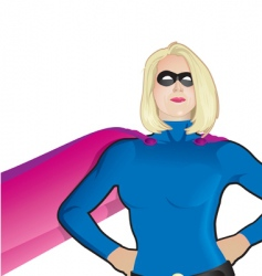 superwoman close up vector image