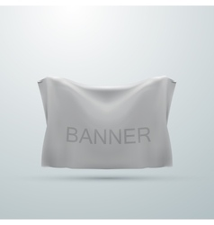 White textile banner mock-up vector