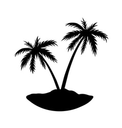 Two palms island vector