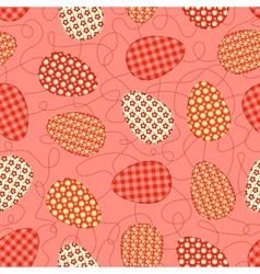 Easter pink seamless pattern vector image