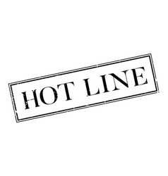 hot line rubber stamp vector image