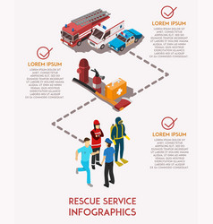 rescue service infograhics vector image