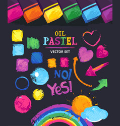 oil pastel vector image
