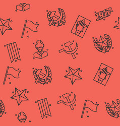 Communism concept icons pattern vector