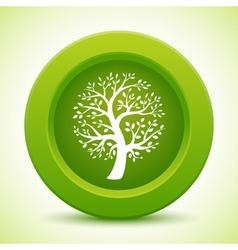 Green tree button vector