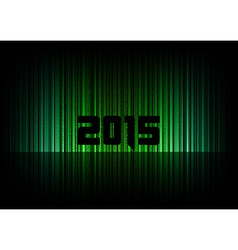 2015 abstract lines black green vector image vector image
