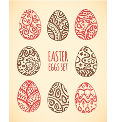Eastern sketch eggs set vector