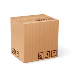 Carton box isolated vector
