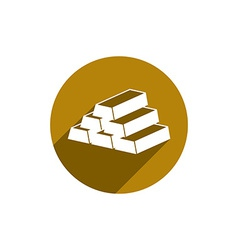 Gold bars icon isolated vector image