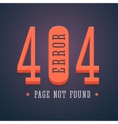 404 error page for website vector