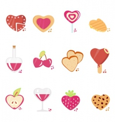 Sweets with love concept vector