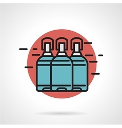 Water delivery flat line icon vector