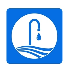 Icon with tap and water drop vector