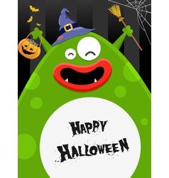 Big Halloween Monster vector image