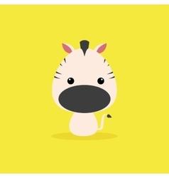 Cute cartoon wild zebra vector