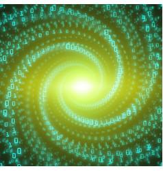 data flow visualization green big vector image vector image