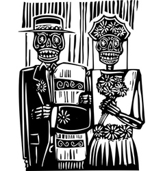 Day of the Dead Wedding vector image vector image
