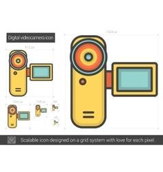 Digital videocamera line icon vector