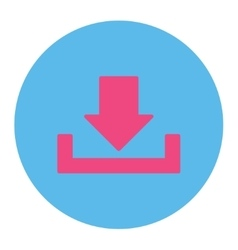 Download flat pink and blue colors round button vector