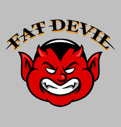 Fat devil face vector